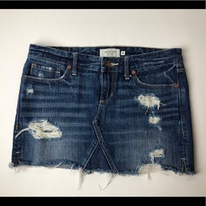 Abercrombie and Fitch distressed Skirt